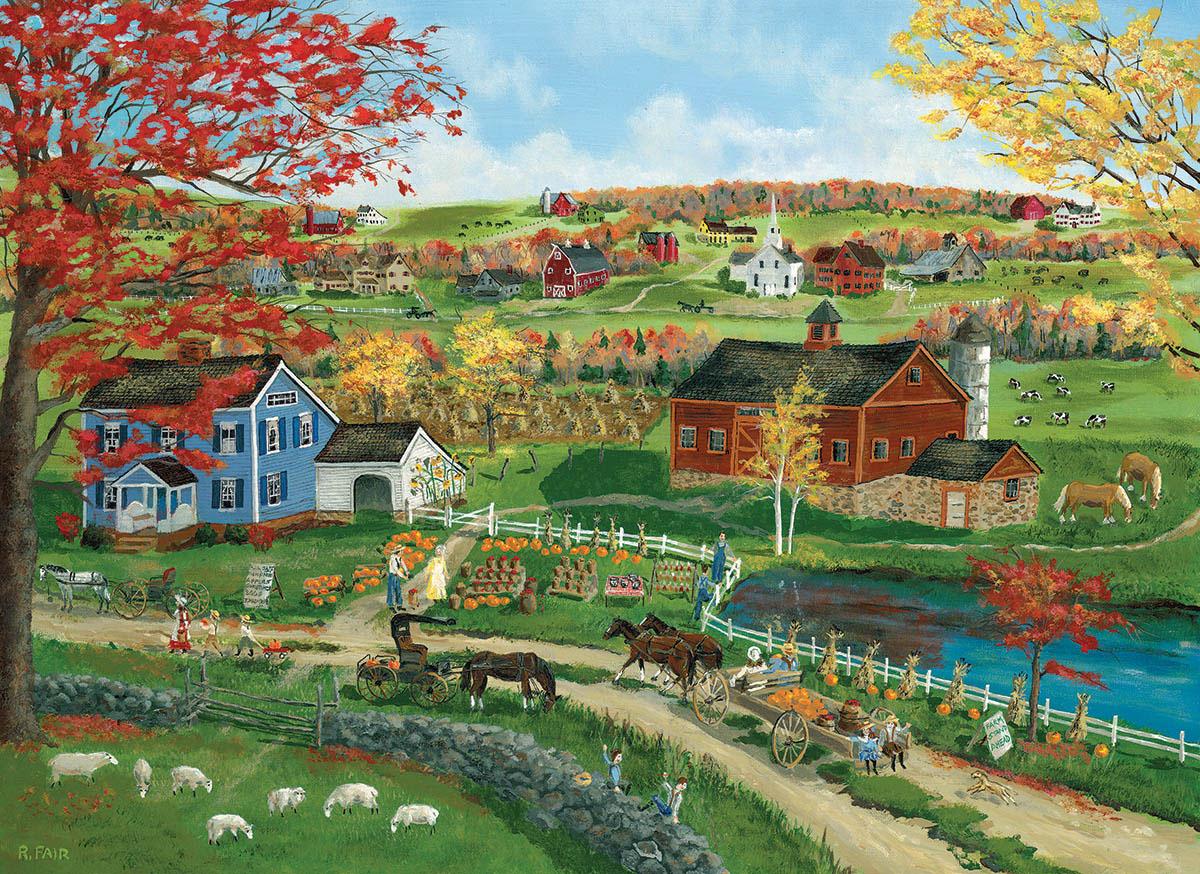 Pumpkin Season Fall Jigsaw Puzzle
