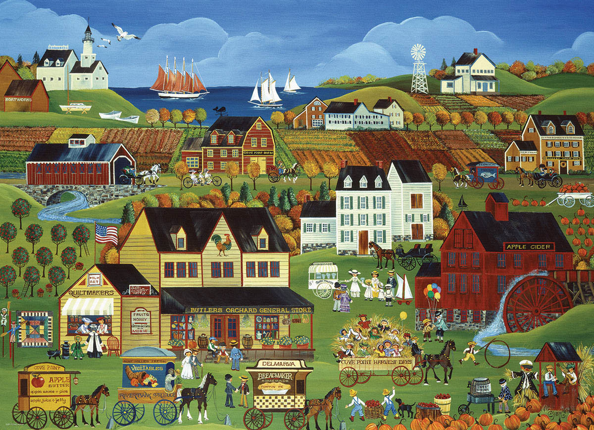 Harvest Days in Cove Point Farm Jigsaw Puzzle
