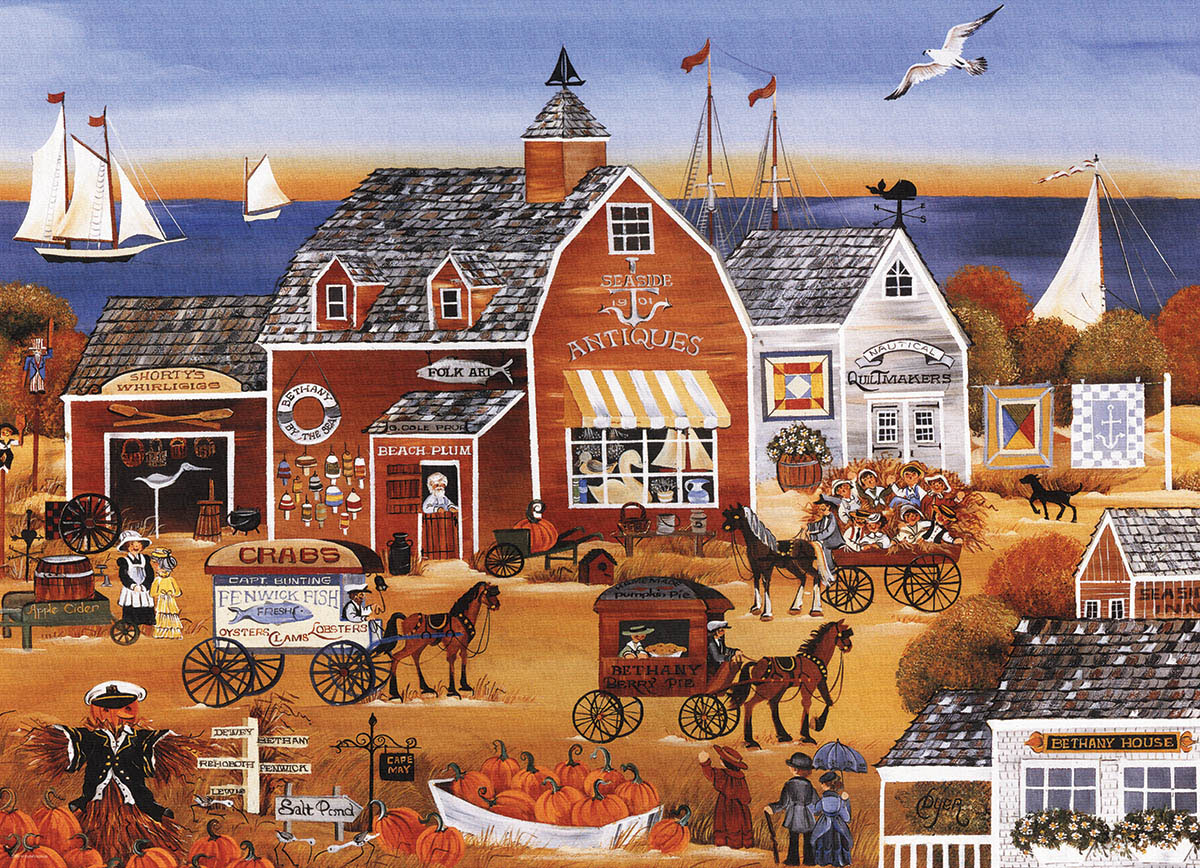 Seaside Antiques Fall Jigsaw Puzzle