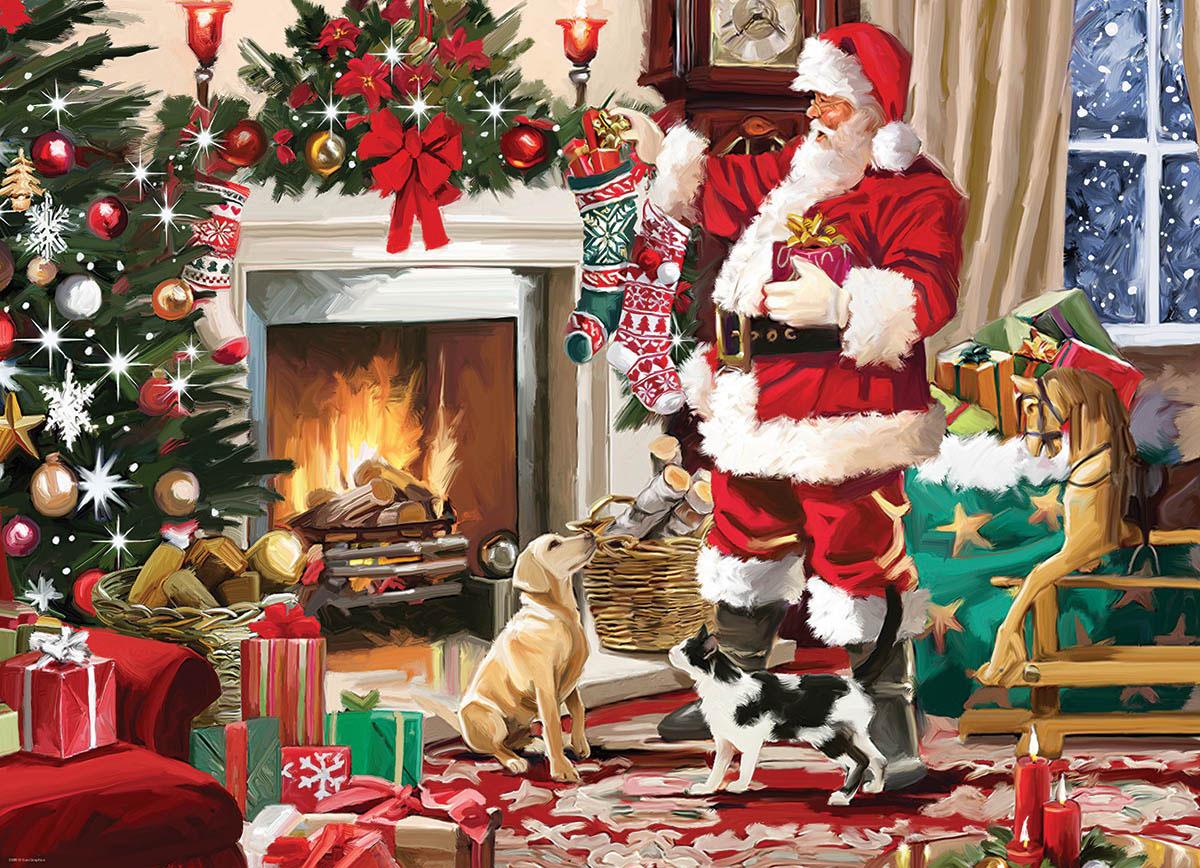 Santa's Best Friend Santa Jigsaw Puzzle