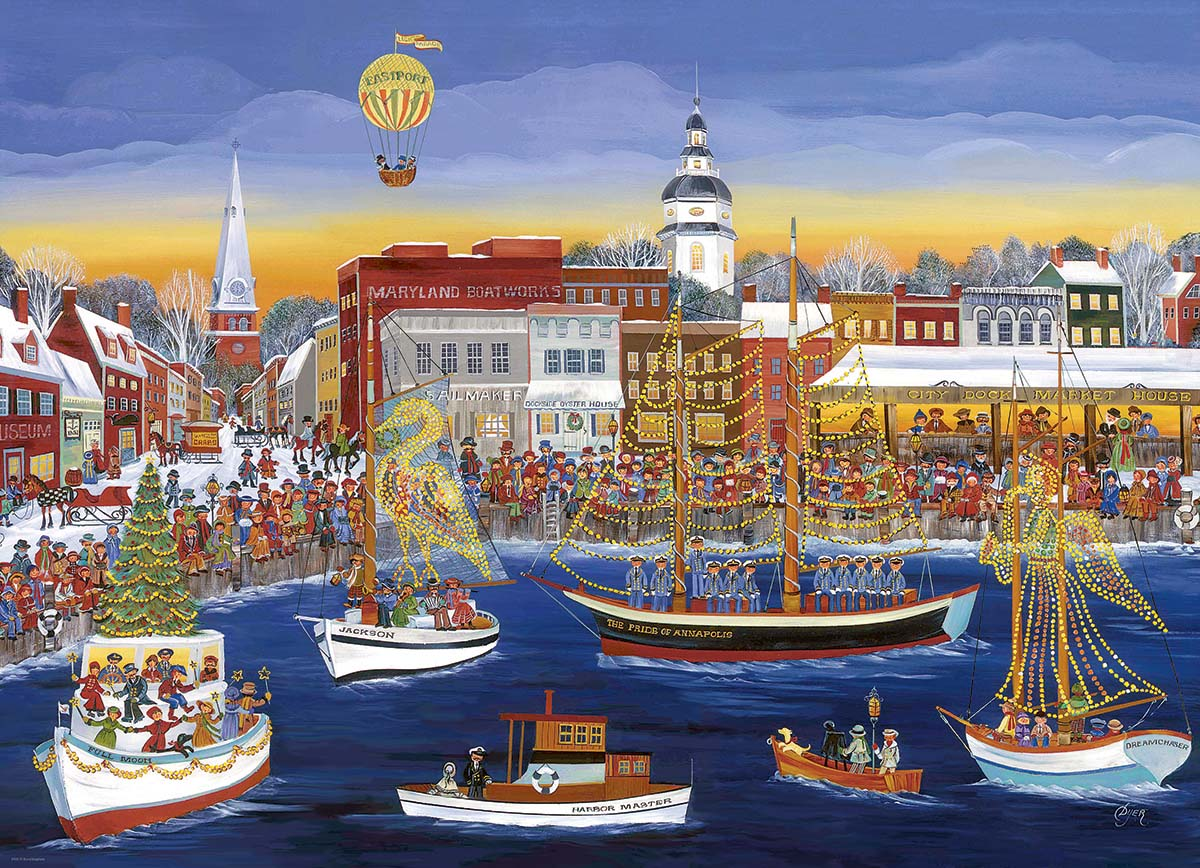 Seaside Holiday Boats Jigsaw Puzzle