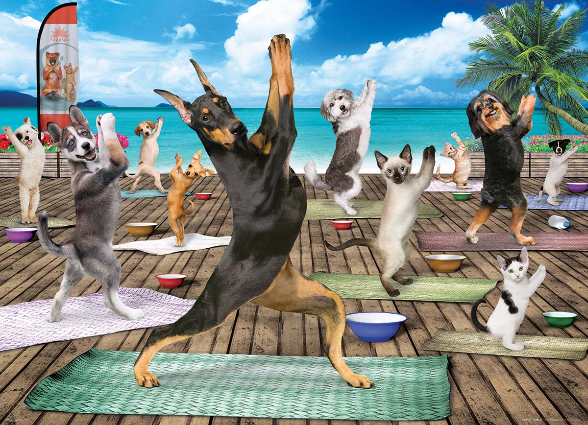 Yoga Spa Cats Jigsaw Puzzle