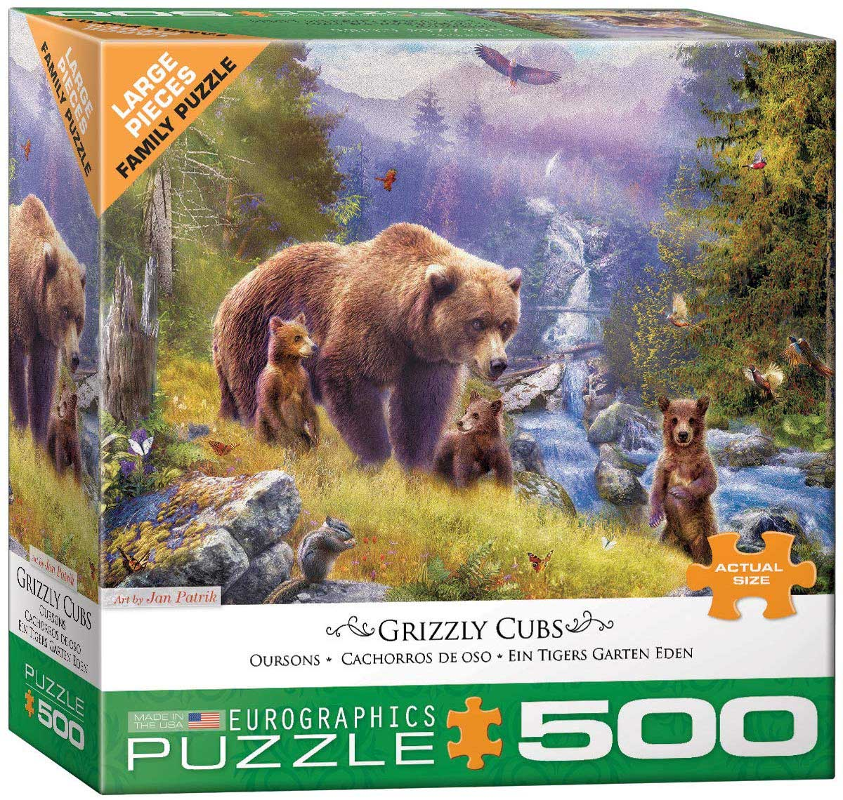 Grizzly Cubs Bears Jigsaw Puzzle