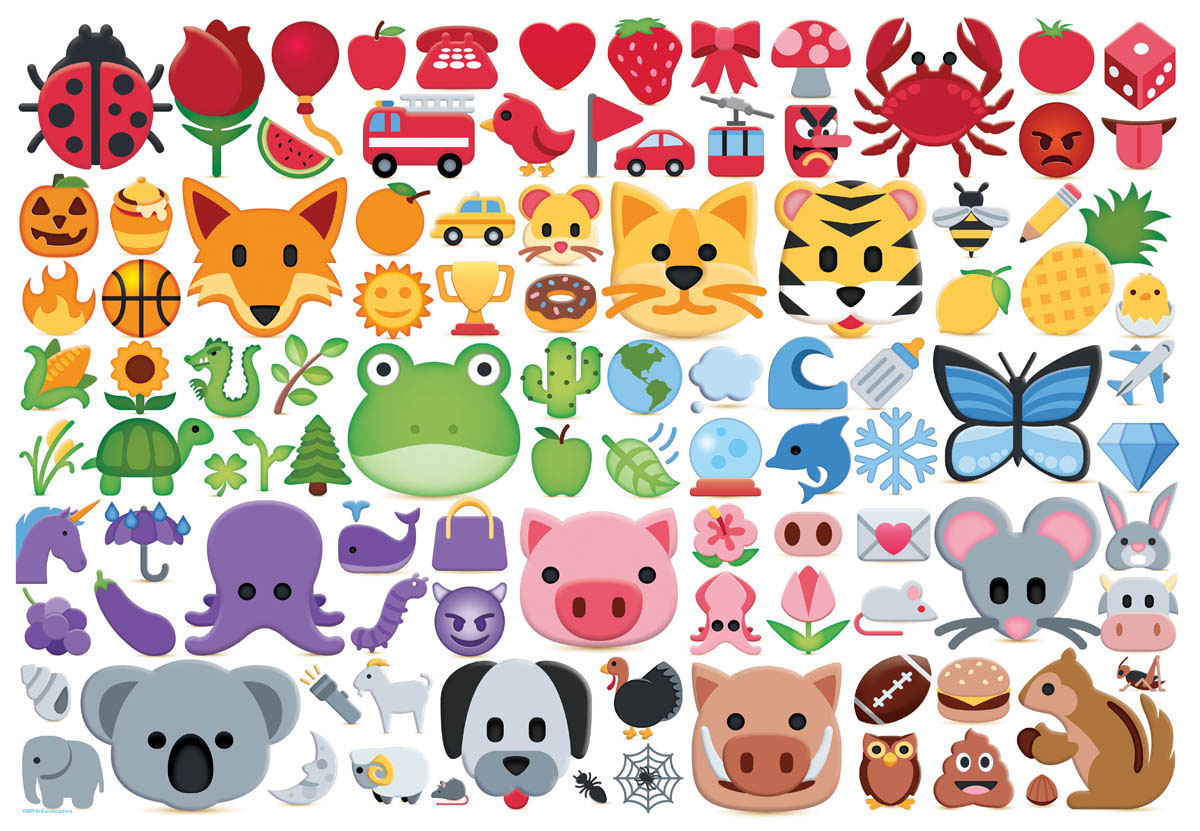 Emoji Colors Cartoons Jigsaw Puzzle
