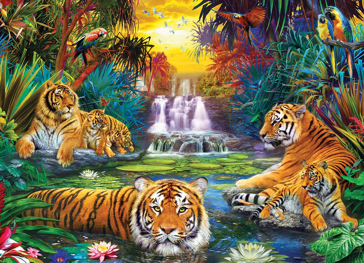 Tiger's Eden Tigers Jigsaw Puzzle