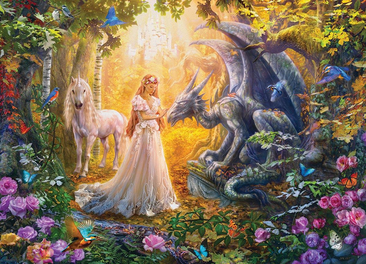 Princess' Garden Fantasy Jigsaw Puzzle