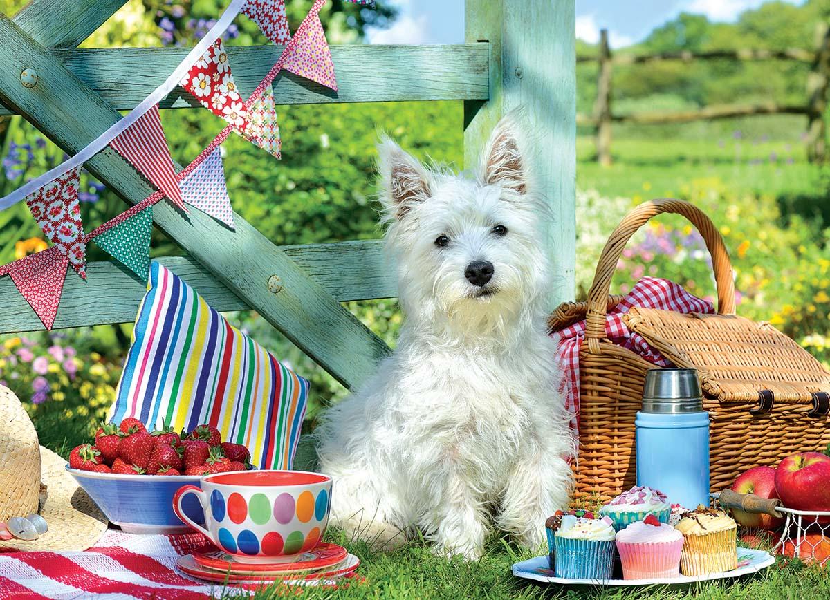 Scottie Dog Picnic Dogs Jigsaw Puzzle