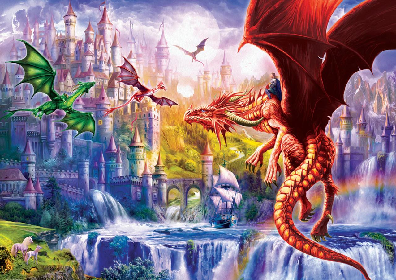 Dragon Kingdom Castles Jigsaw Puzzle