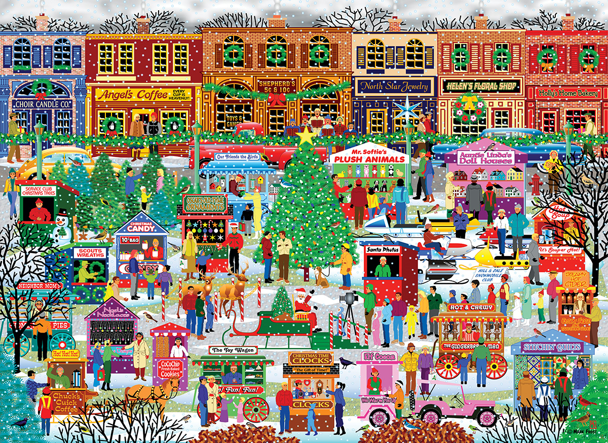 Downtown Holiday Festival Christmas Jigsaw Puzzle