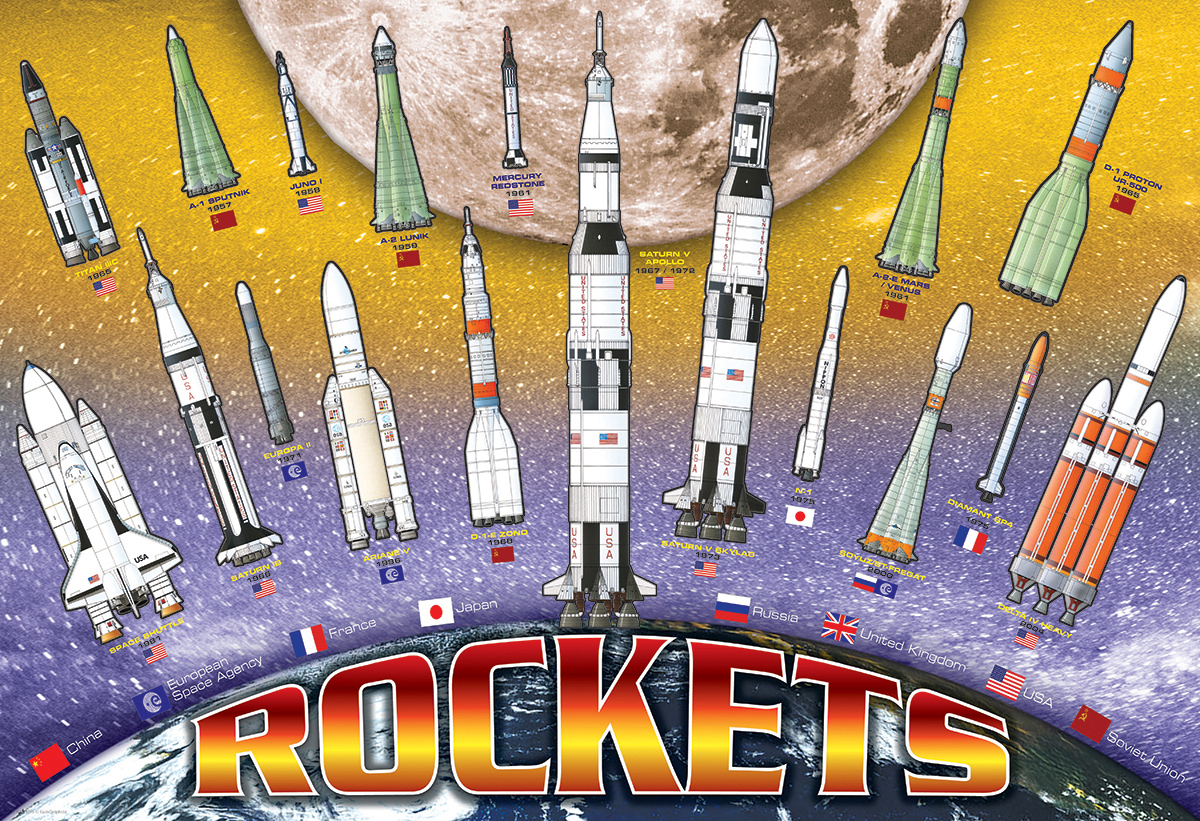 Rockets Space Jigsaw Puzzle