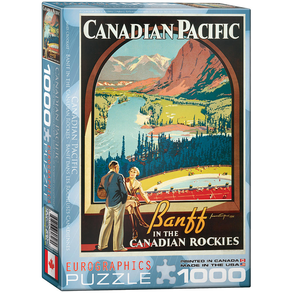 Banff in the Canadian Rockies Trains Jigsaw Puzzle