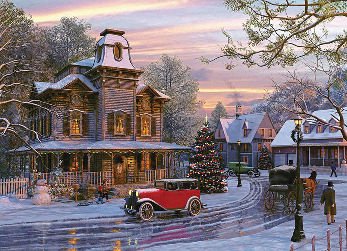Driving Home for Christmas Nostalgic / Retro Jigsaw Puzzle