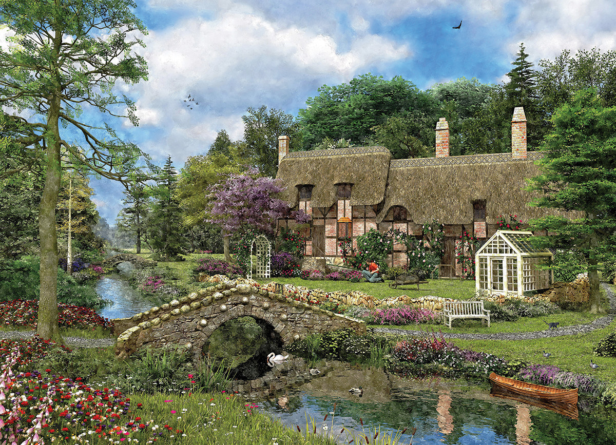 Cobble Walk Cottage - Scratch and Dent Landscape Jigsaw Puzzle