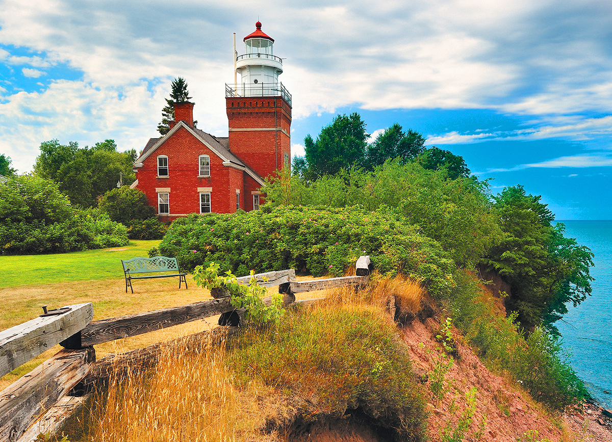 Big Bay Lighthouse, MI - Scratch and Dent Lighthouses Jigsaw Puzzle