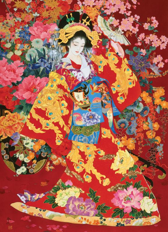 Agemaki Asian Art Jigsaw Puzzle