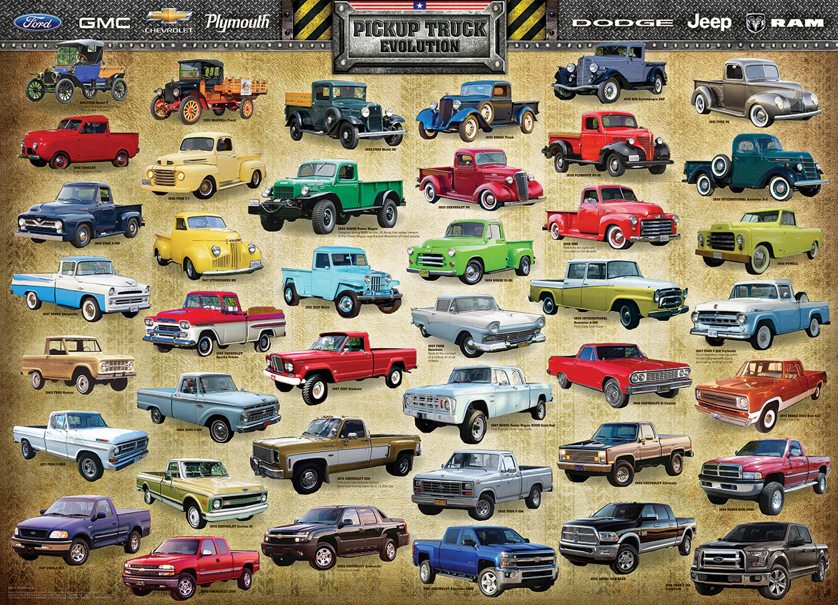 Pickup Truck Evolution Cars Jigsaw Puzzle