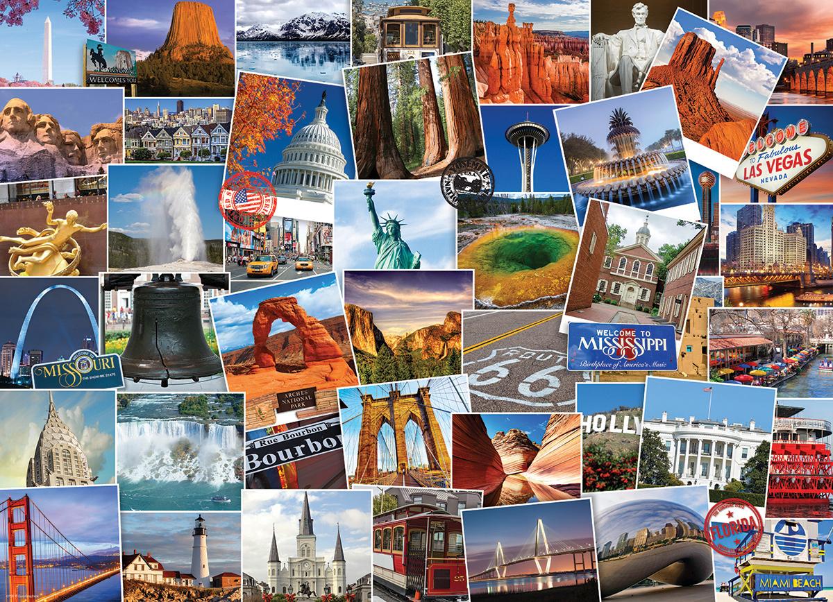 Globetrotter USA Travel Jigsaw Puzzle