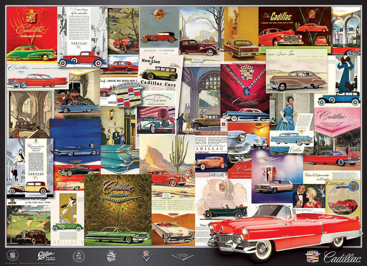 Cadillac Advertising Collection Cars Jigsaw Puzzle