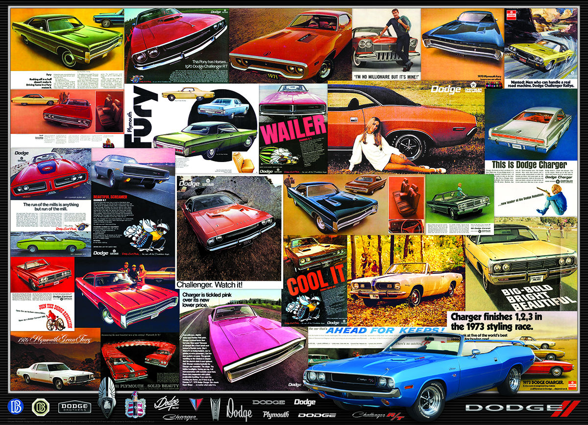 Dodge Advertising Collection Cars Jigsaw Puzzle