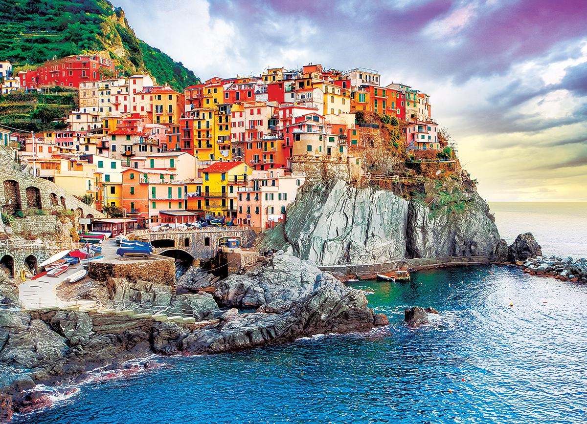 Cinque Terre,Manarola Italy - Mediterranean Oasis Italy Jigsaw Puzzle