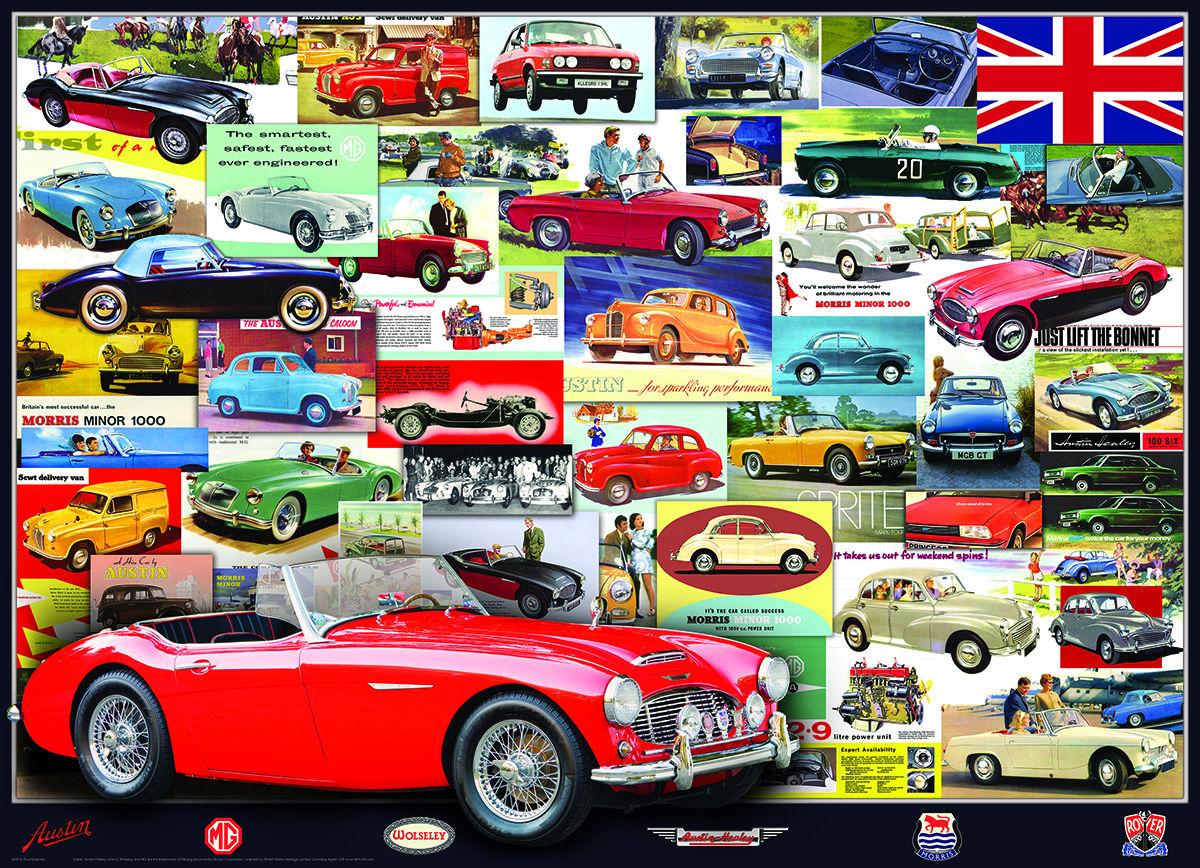 British Motor Heritage Cars Jigsaw Puzzle