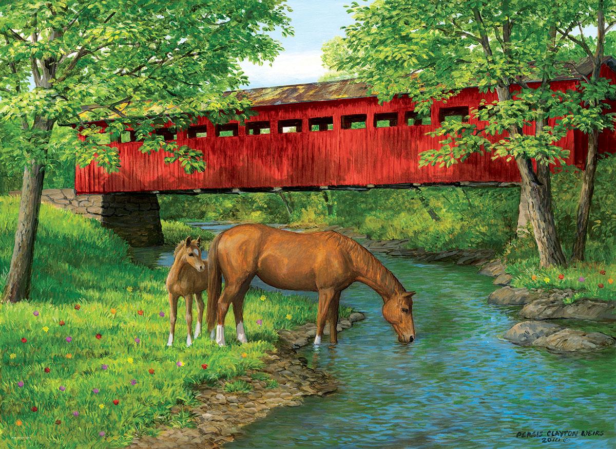 Sweet Water Bridge Summer Jigsaw Puzzle
