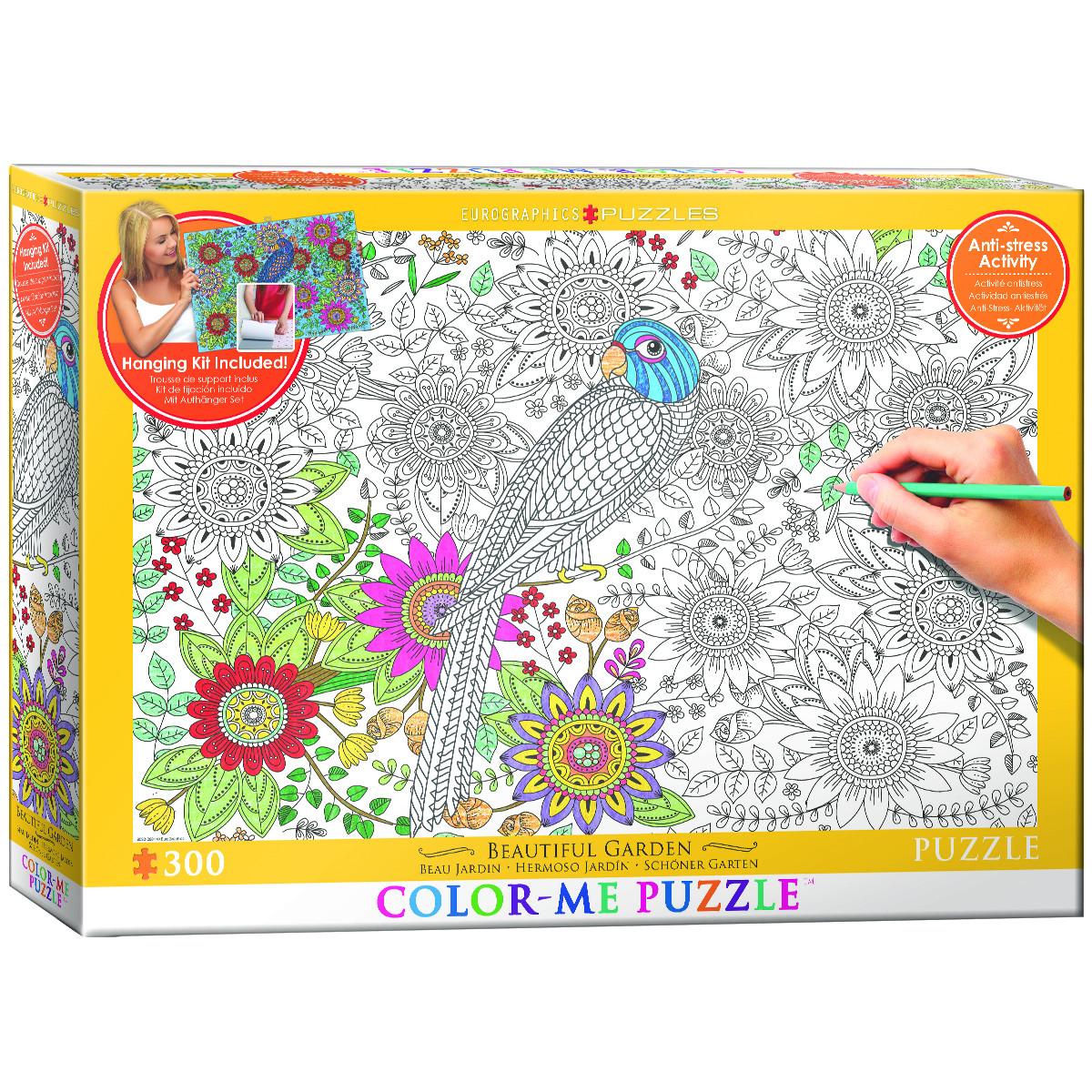 Beautiful Garden Coloring Puzzle | PuzzleWarehouse.com