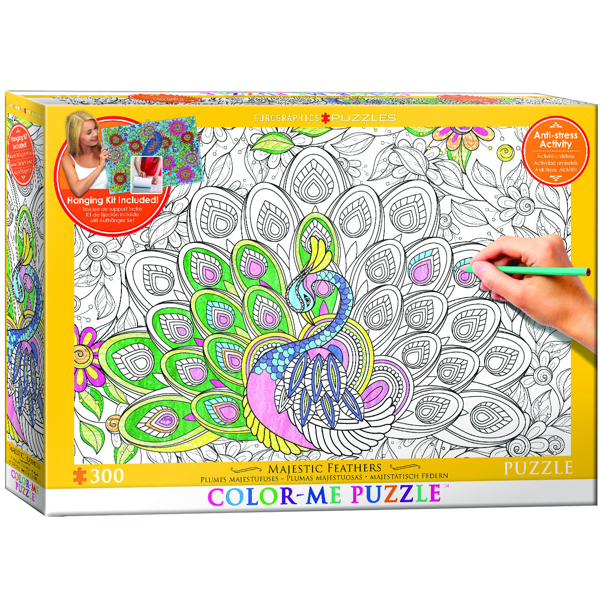 Majestic Feathers Birds Coloring Puzzle