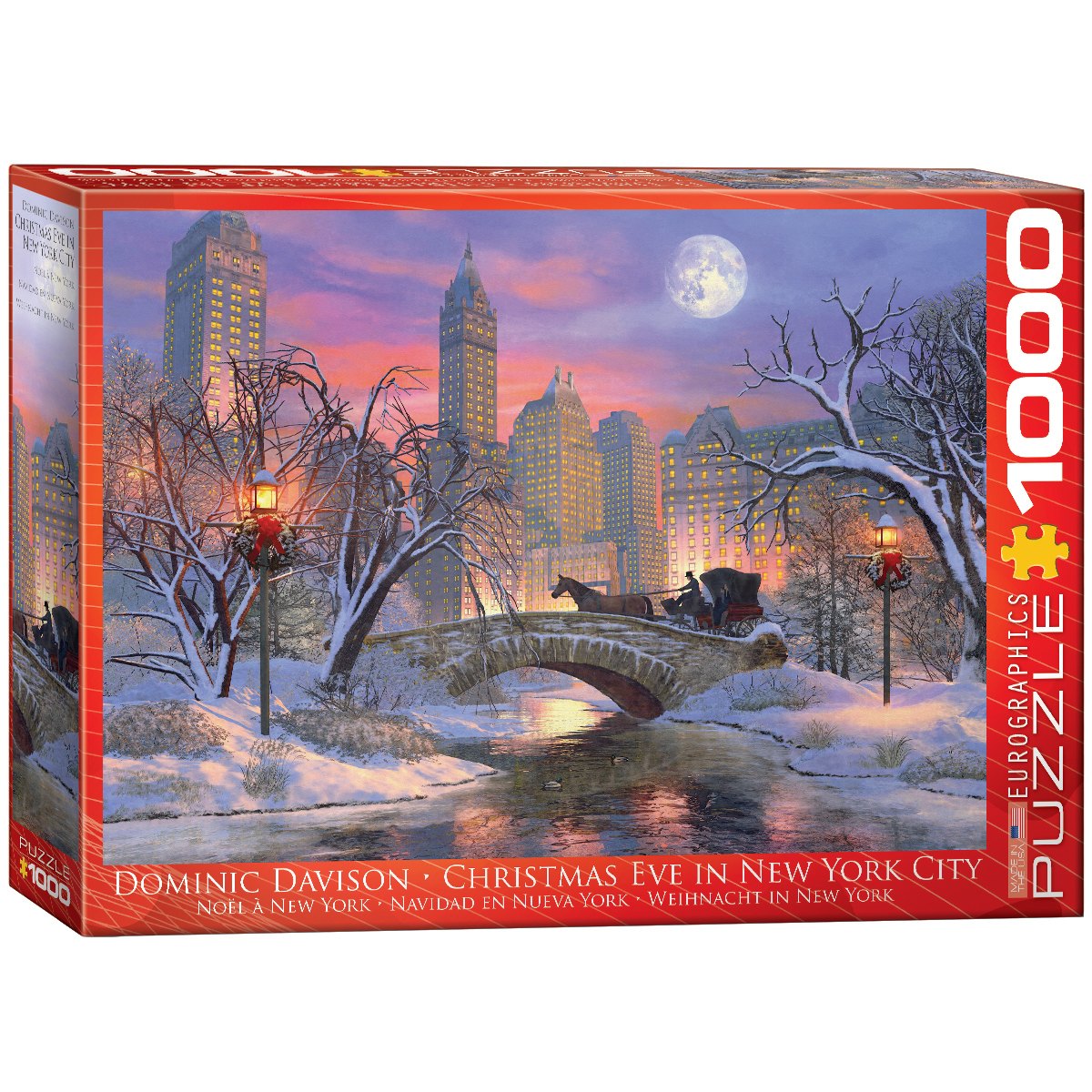 Christmas Eve in New York City Winter Jigsaw Puzzle