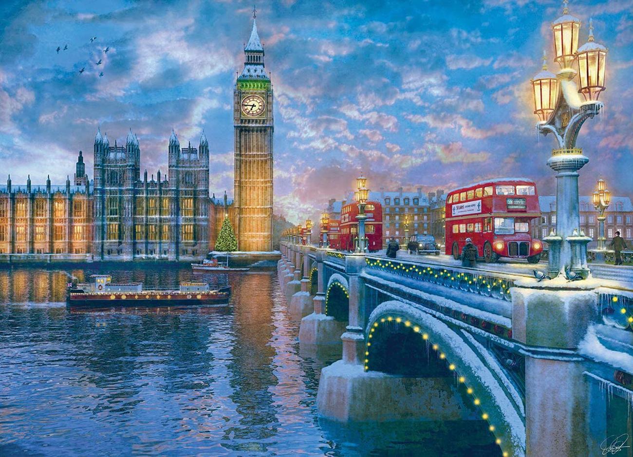 Christmas Eve in London Landmarks / Monuments Jigsaw Puzzle