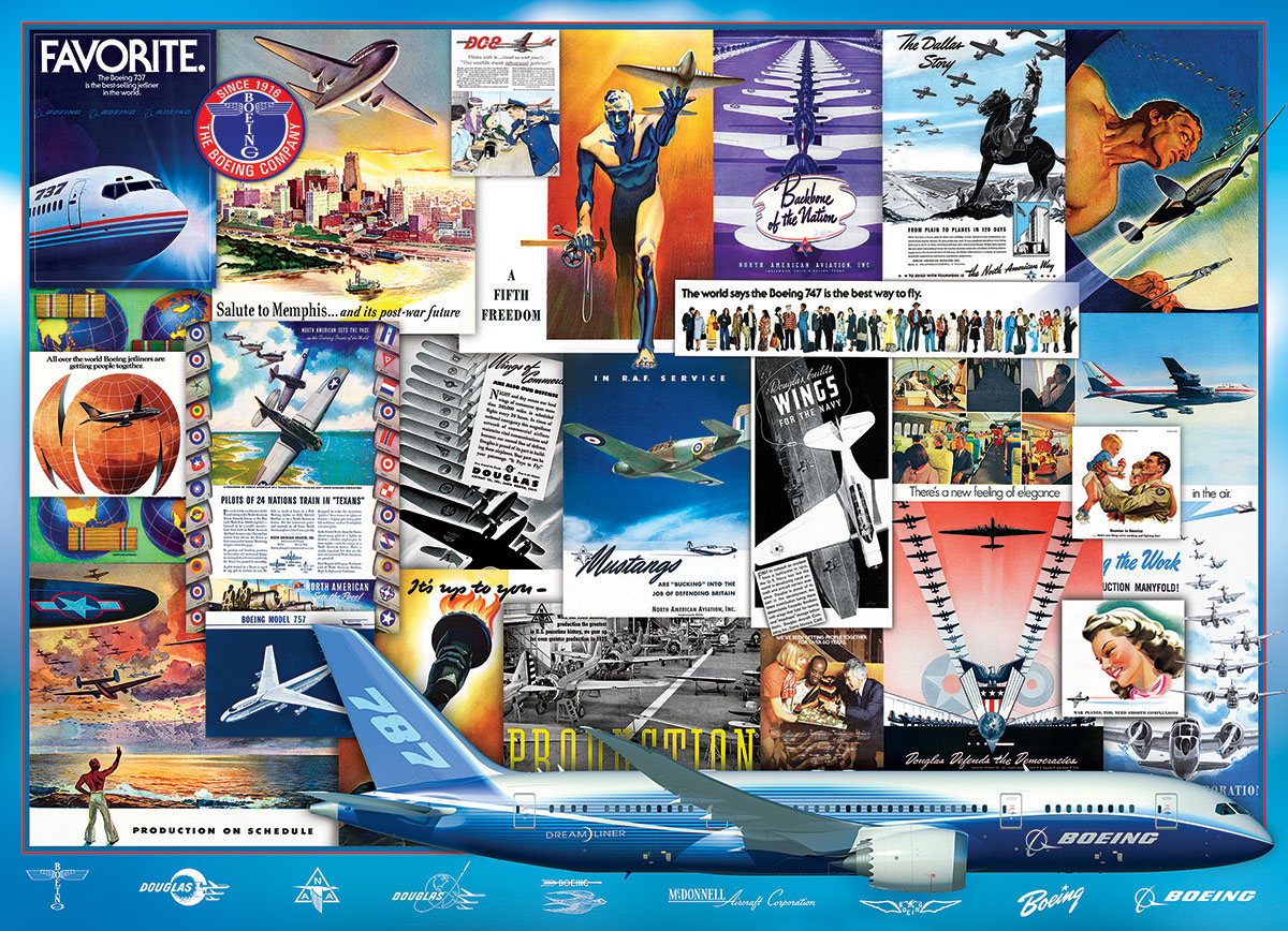 Boeing Advertising Collection Planes Jigsaw Puzzle