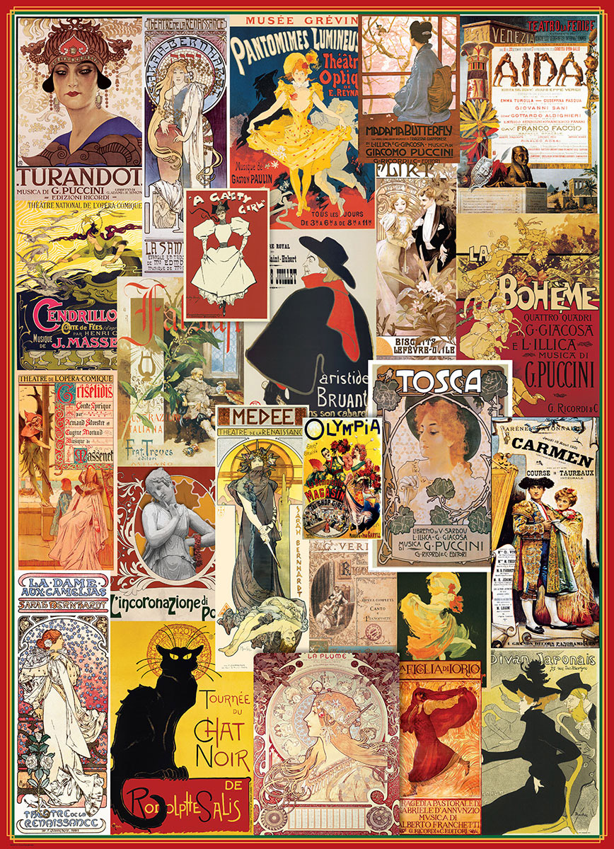 Theatre & Opera (Vintage Collage) - Scratch and Dent Nostalgic / Retro Jigsaw Puzzle