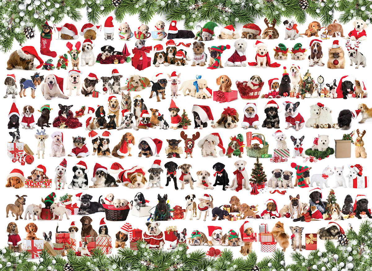 Holiday Dogs Dogs Jigsaw Puzzle