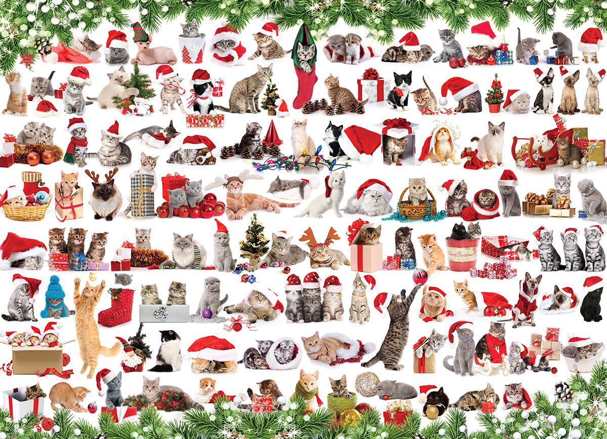 Christmas Kittens Cats Jigsaw Puzzle