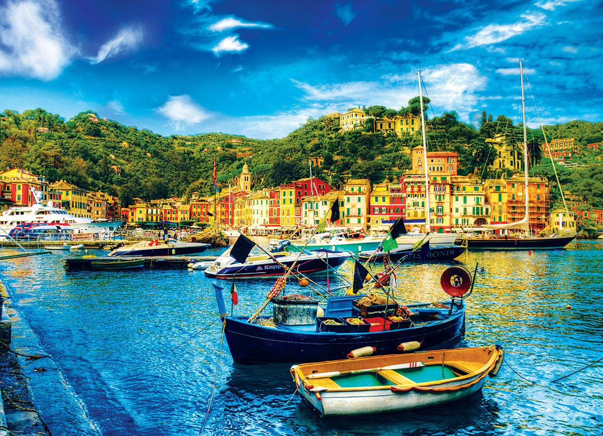 Portofino Italy Boats Jigsaw Puzzle