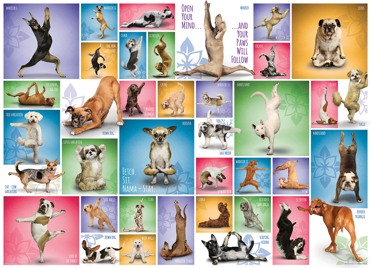 Yoga Dogs Dogs Jigsaw Puzzle