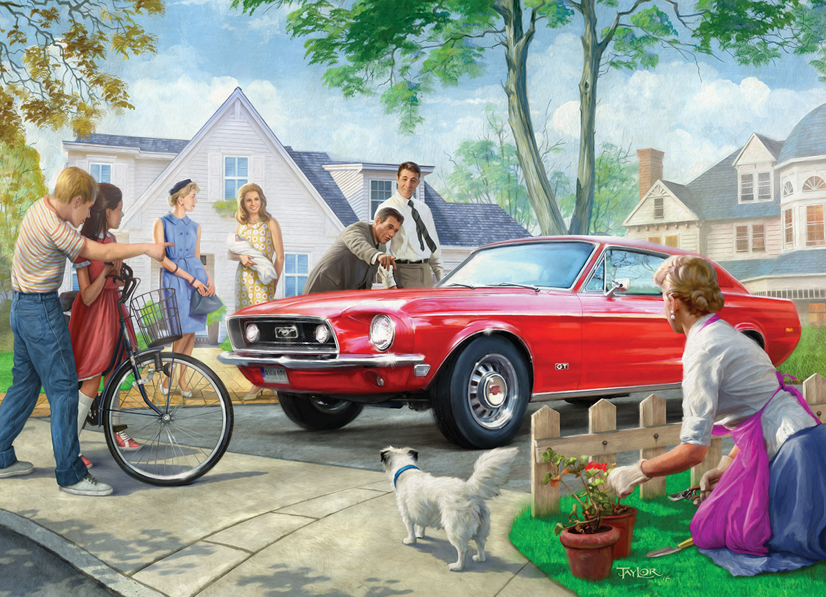 The Red Pony Cars Jigsaw Puzzle