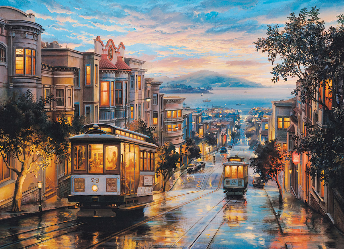 San Francisco Cable Car Heaven Street Scene Jigsaw Puzzle