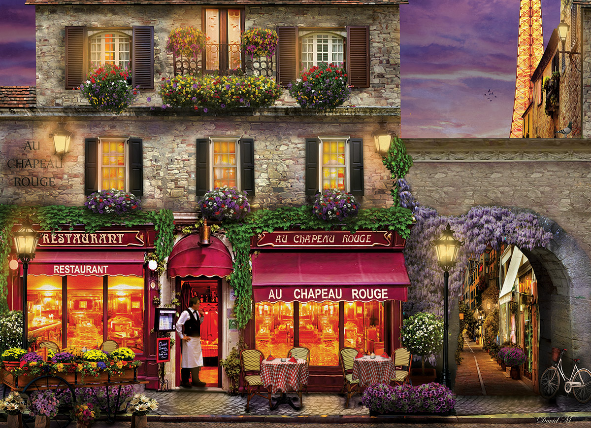 the red hat restaurant paris jigsaw puzzle. Black Bedroom Furniture Sets. Home Design Ideas