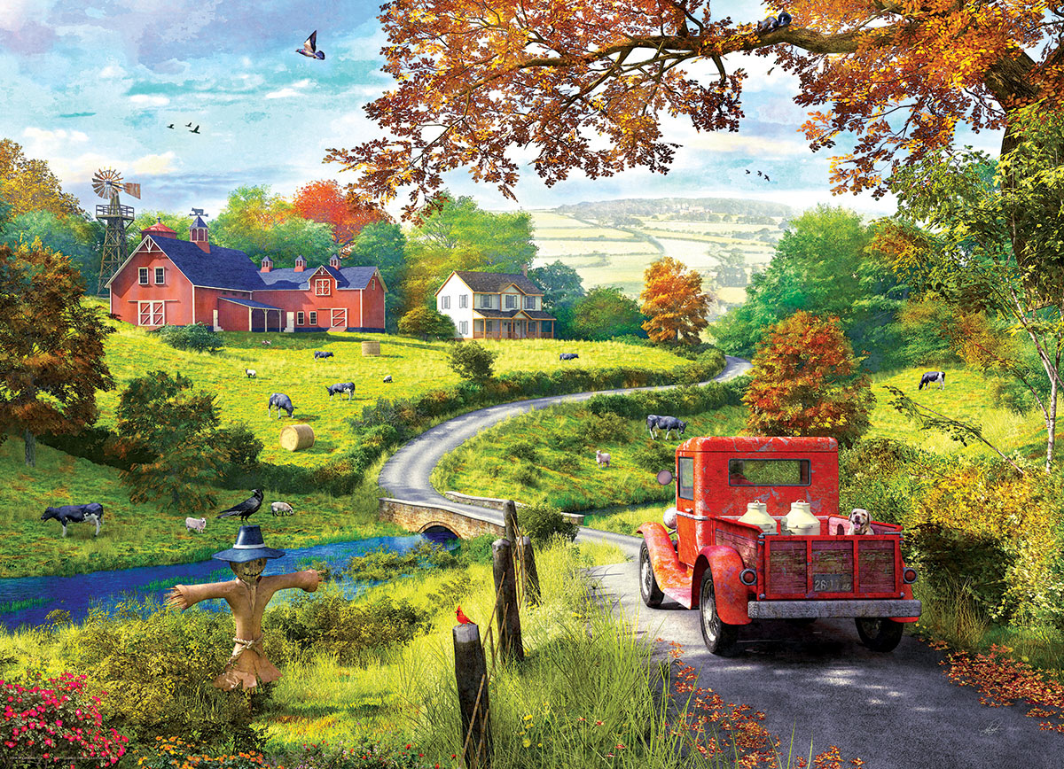 The Country Drive Jigsaw Puzzle Puzzlewarehouse Com