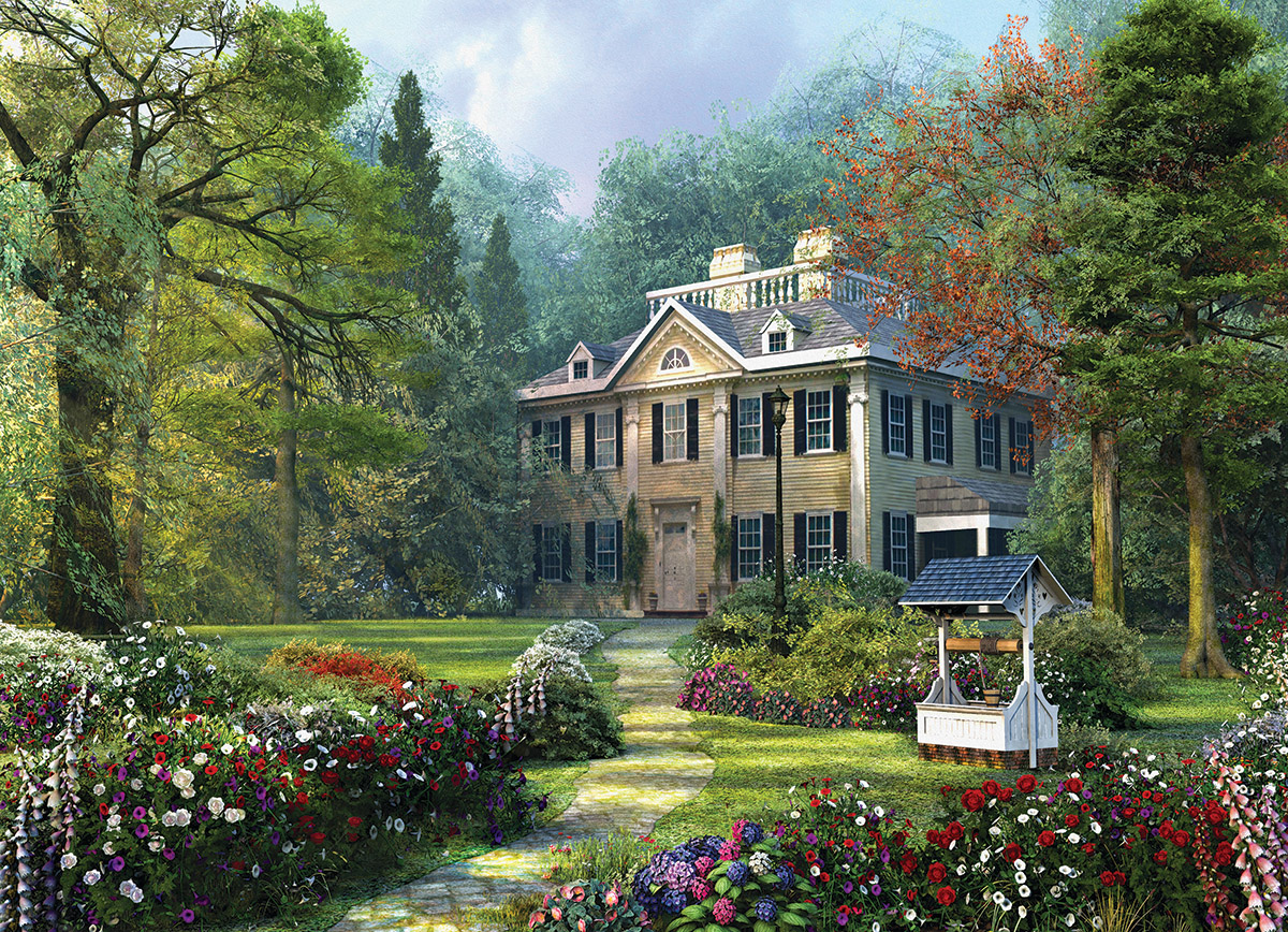Longfellow House Spring Jigsaw Puzzle