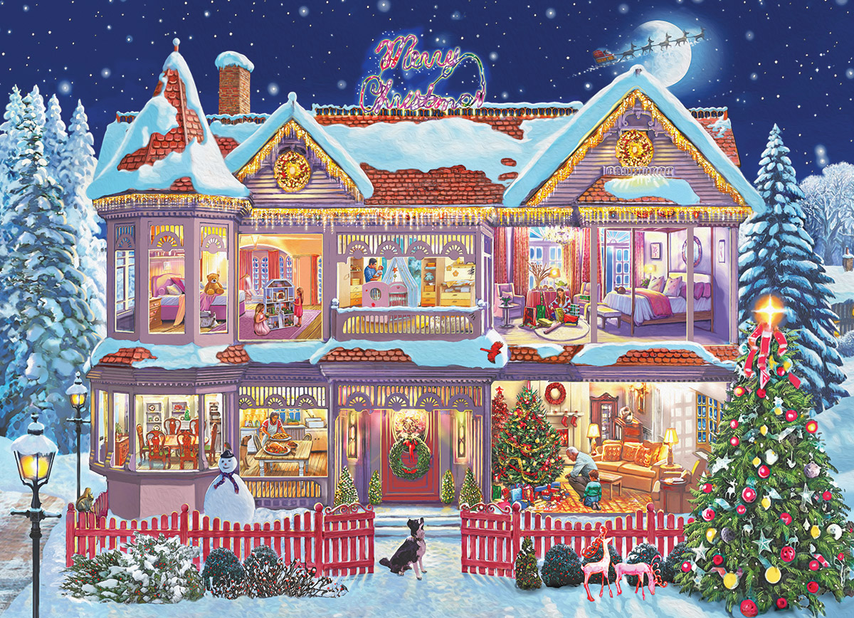 Getting Ready for Christmas Winter Jigsaw Puzzle