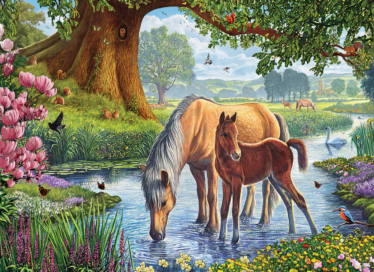 The Fell Ponies Countryside Jigsaw Puzzle