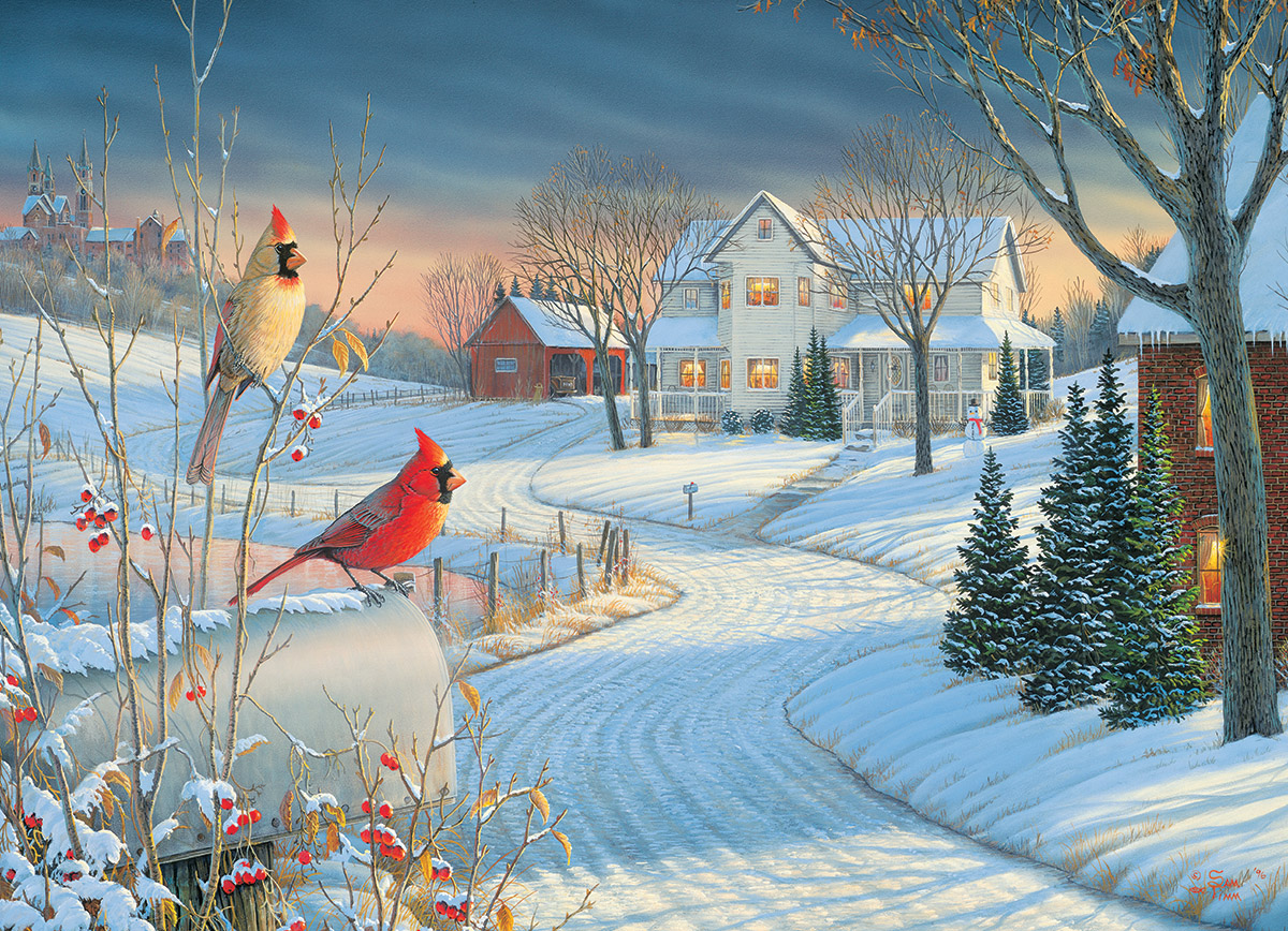 Country Cardinals Birds Jigsaw Puzzle