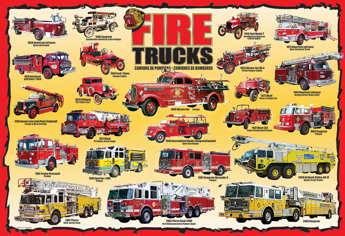 Fire Trucks - Scratch and Dent Vehicles Jigsaw Puzzle