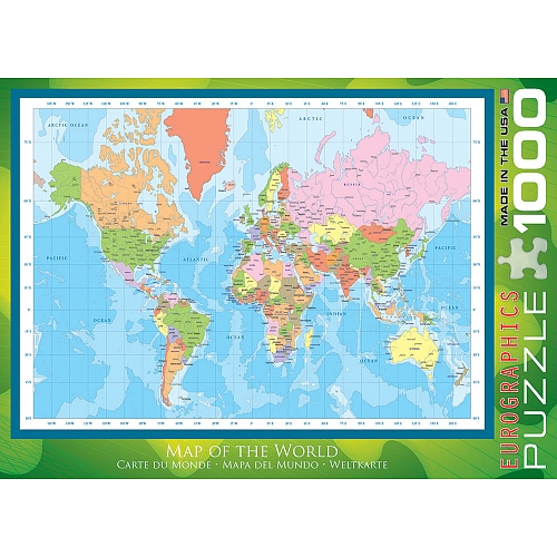 World Map Graphics / Illustration Jigsaw Puzzle