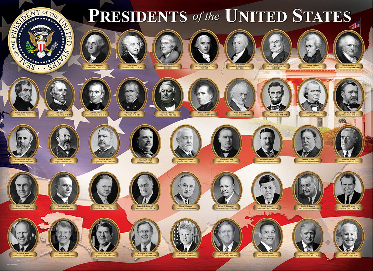 Presidents of the United States Fourth of July Jigsaw Puzzle