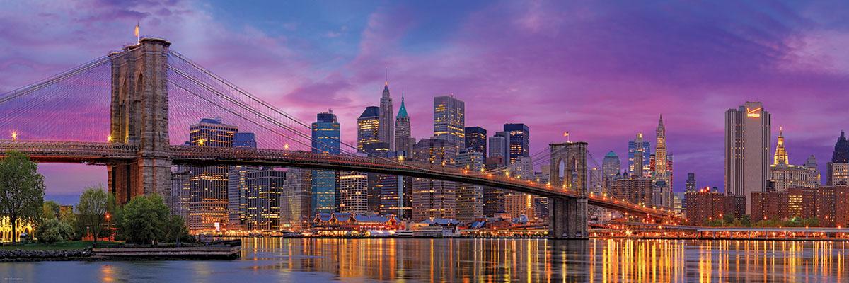 Brooklyn Bridge, New York Skyline / Cityscape Jigsaw Puzzle
