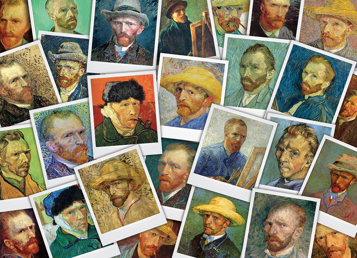 Van Gogh's Selfies Famous People Jigsaw Puzzle