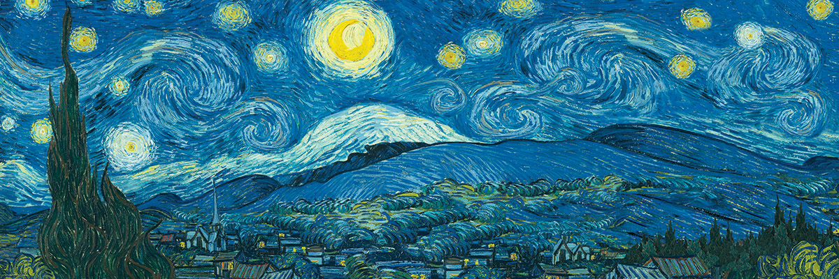 Starry Night Panorama (Expanded from original) Fine Art Jigsaw Puzzle